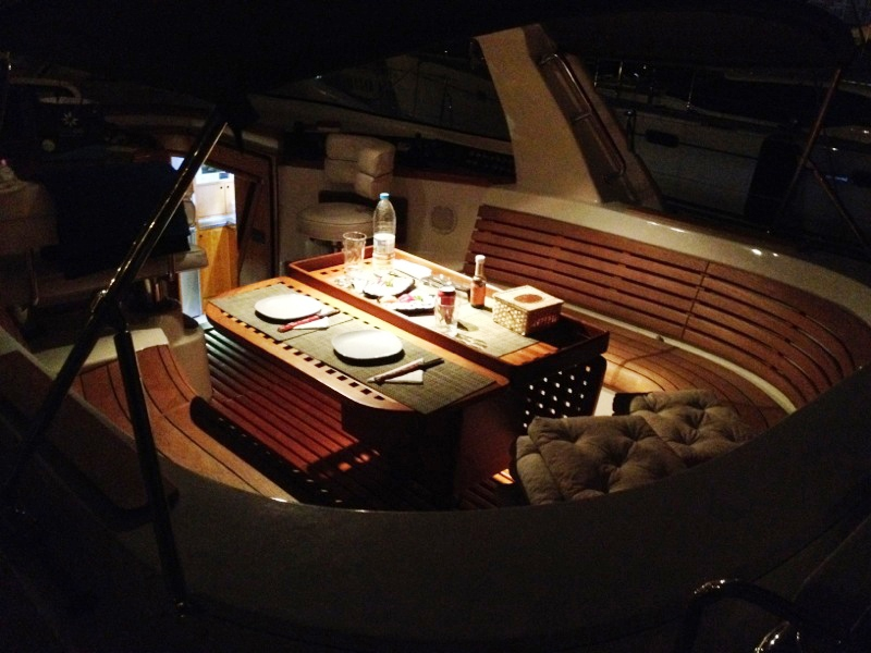 OCEAN PHOENIX -  Cockpit dining at night