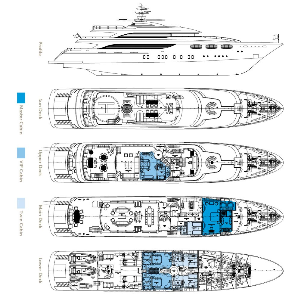Layout plans image gallery luxury yacht browser by for Motor pool floor plan