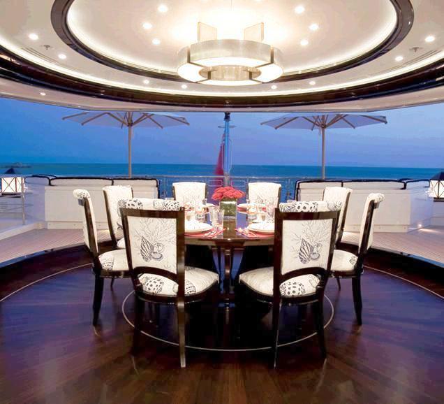 Oceanco Motor Yacht ALFA NERO - Aft Deck Dining