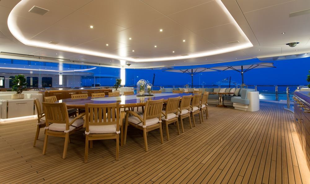 Oceanco Yacht NIRVANA -  Al Fresco Dining