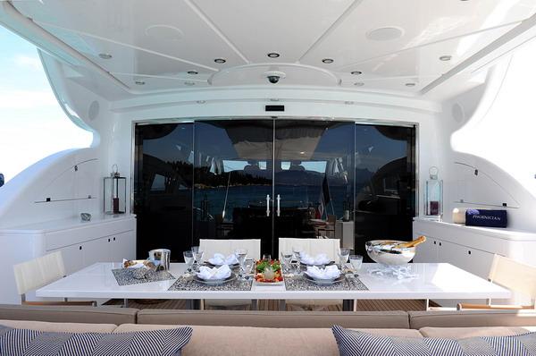 PHOENICIAN -  Aft Deck Dining