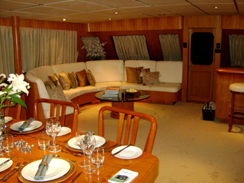 Panache salon from dining luxury yacht browser by for Salon panache