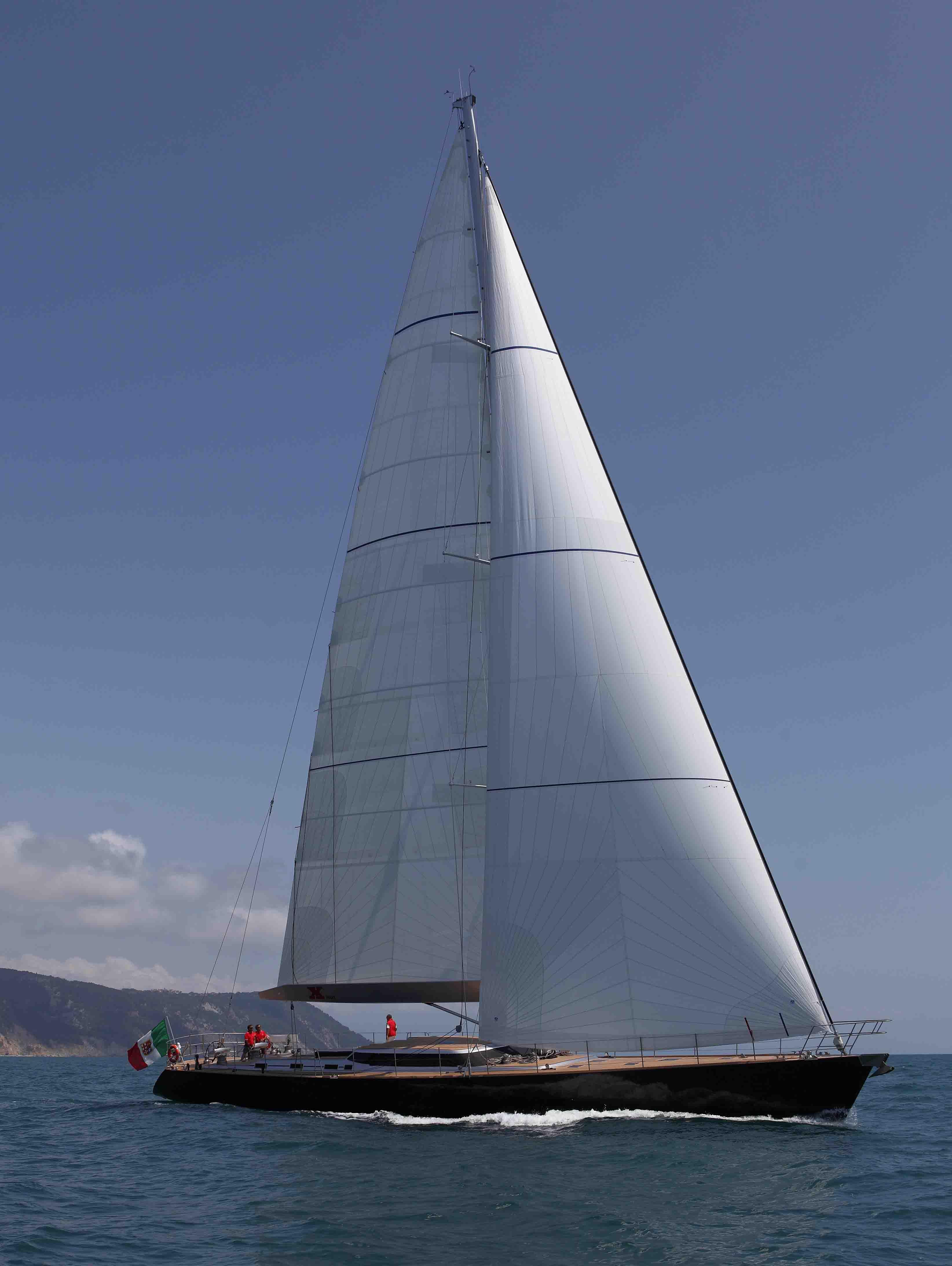 Perini Navi Yacht XNOI - Full Shot Of Sails – Luxury Yacht Browser