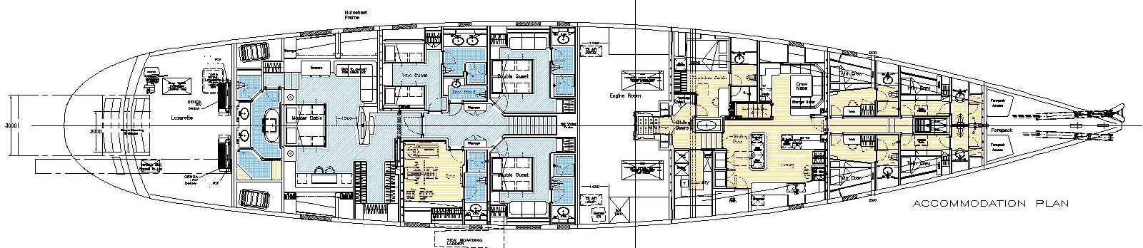 RED DRAGON - The Accommodation Layout