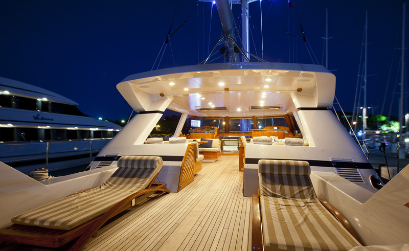 REE Aft Deck by Night