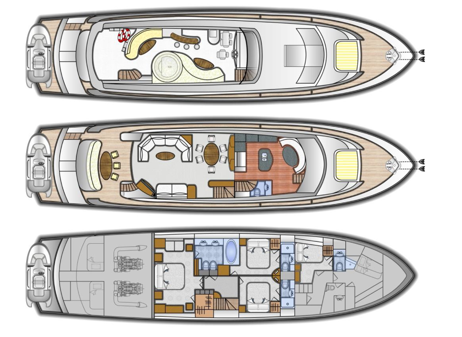 Reeges dream yacht charter details lazzara charterworld for The world deck plans