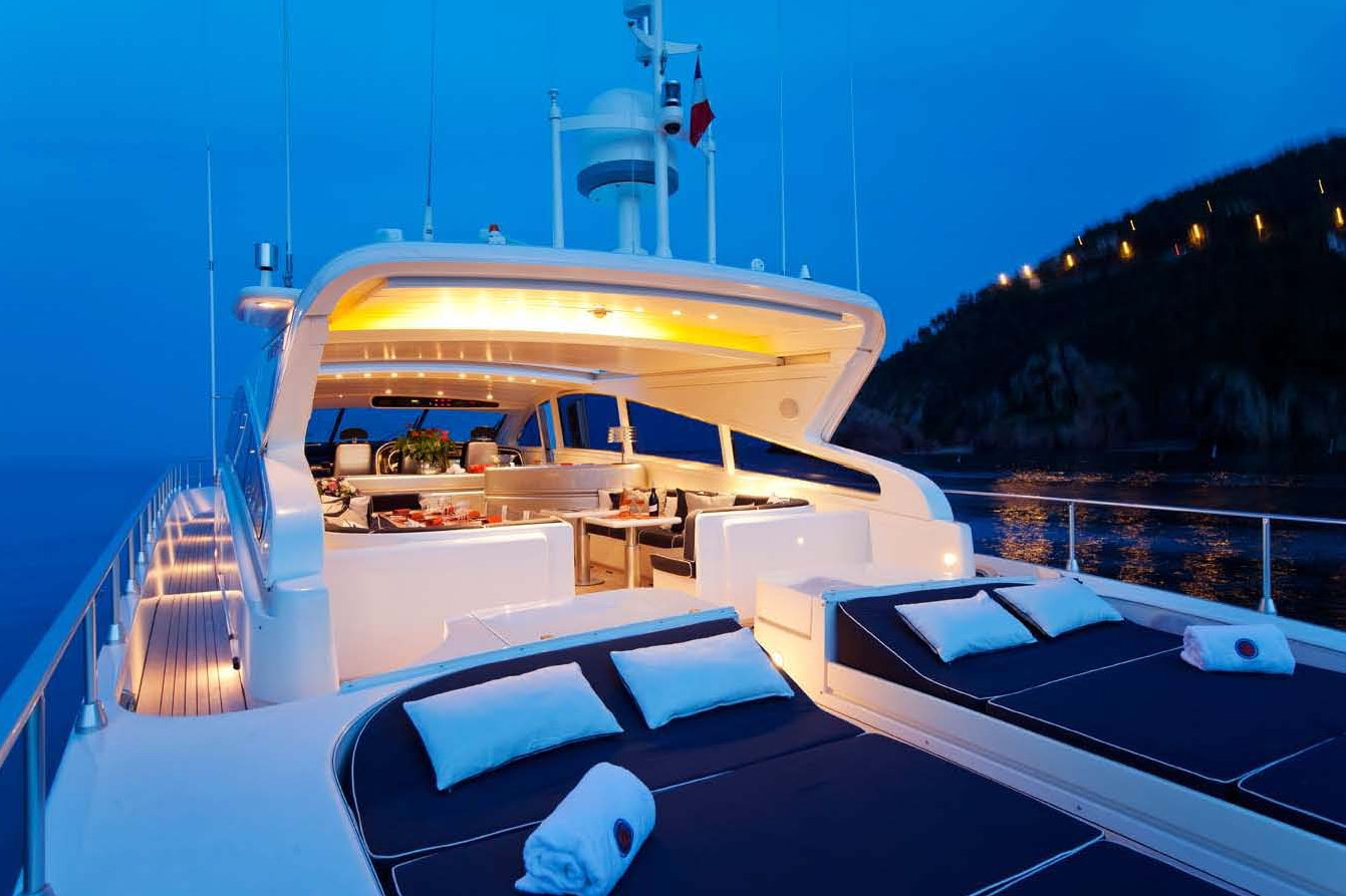 ROMACHRIS II -  Aft Deck at Night
