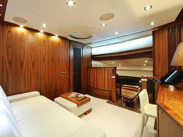 SIMPLE PLEASURE - VIP cabin office lounge credit Sunseeker Yachts