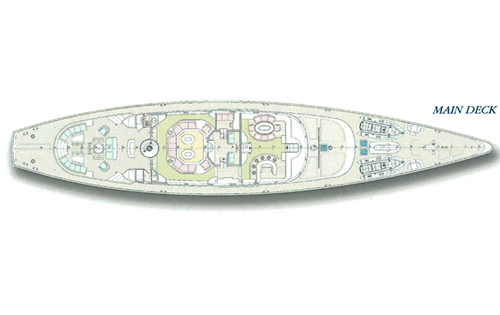 SY ANDROMEDA LA DEA - Main deck layout