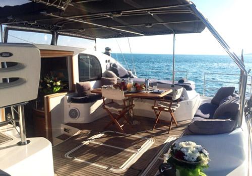 SY OCEAN MED - Aft deck