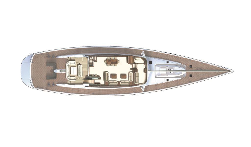 SY TWILIGHT - Layout upper deck
