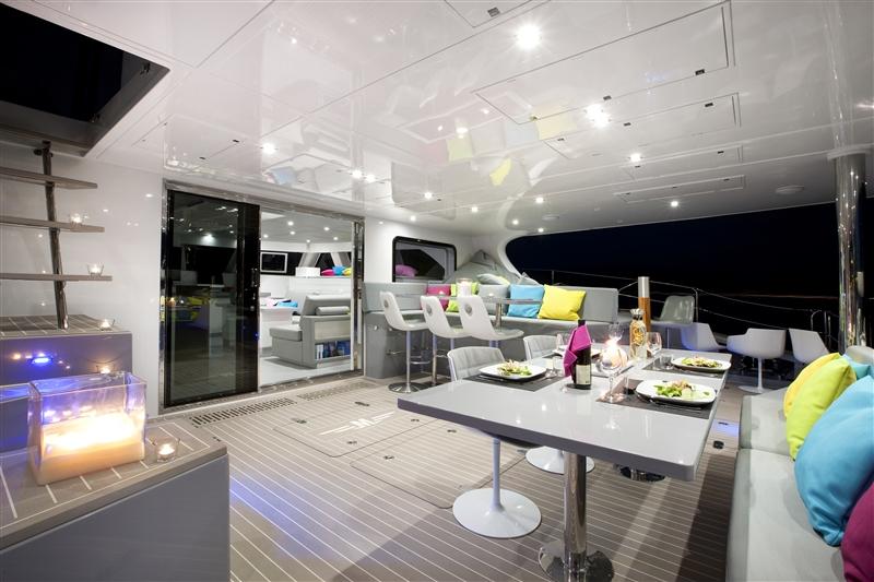 Sail Cat MAVERICK -  Aft Deck