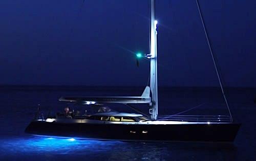 Sail Yacht AIYANA -  At night