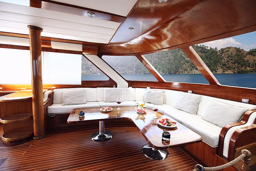 Sail Yacht ANGELO II -  Main Salon Seating