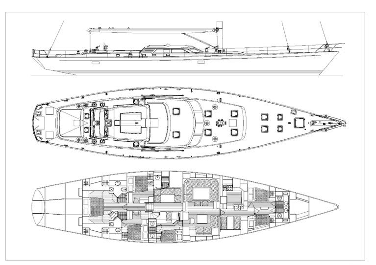 Sail Yacht DHARMA -  Layout