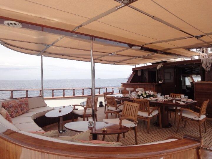 Sail Yacht DON CHRIS - Aft Deck al Fresco Dining