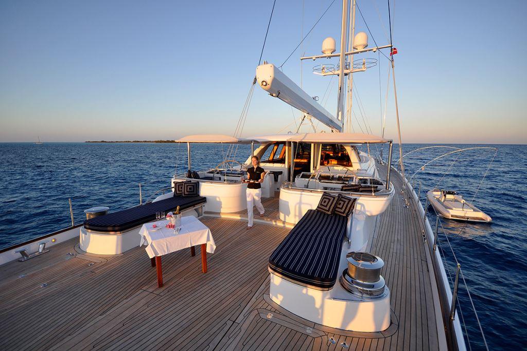 Sail Yacht HYPERION -  Aft Deck