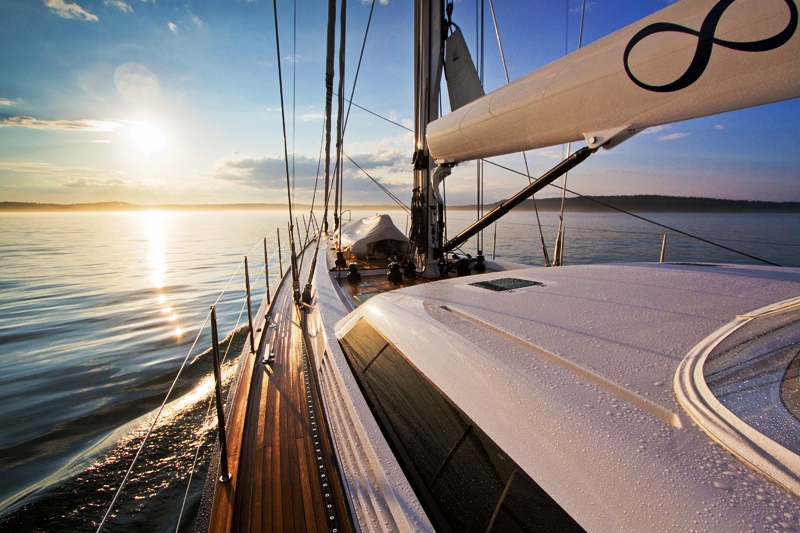 Sail Yacht INFINITY -  Looking forward