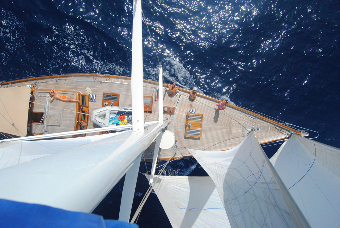 Sail Yacht WINDROSE -  From Above