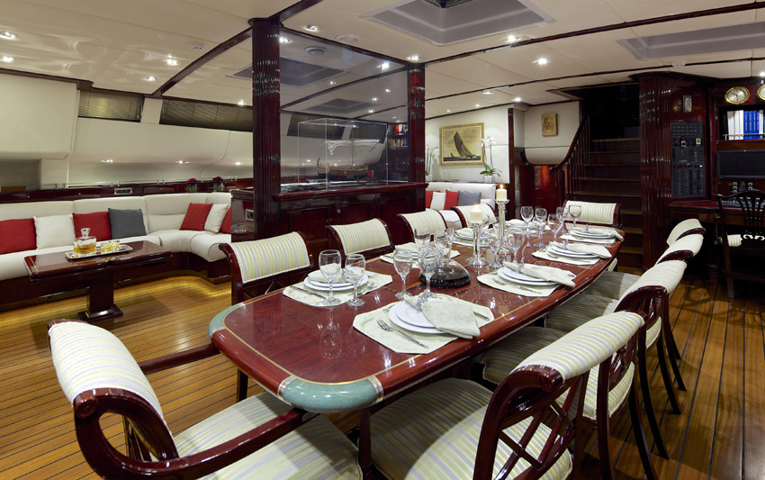 Sail yacht ALLURE -  Formal Dining 2