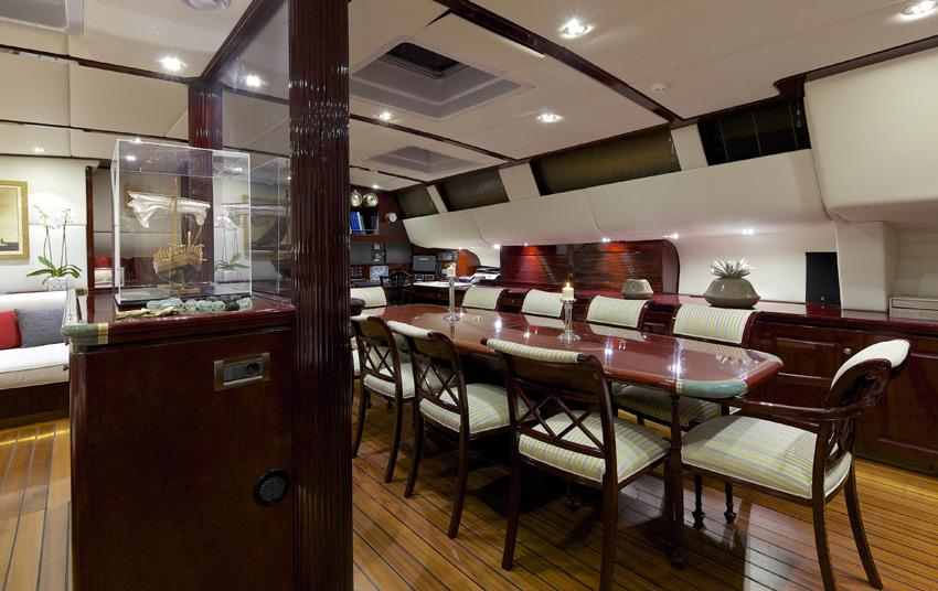 Sail yacht ALLURE -  Formal Dining