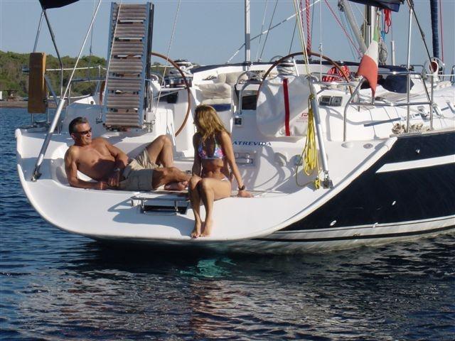 Sail yacht ATREVIDA - Transom