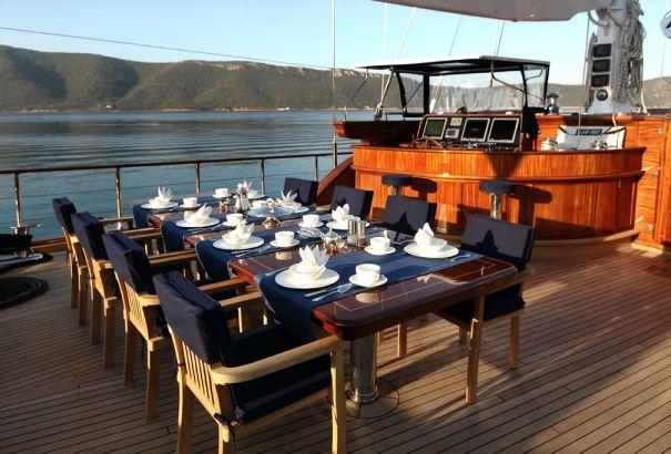 Sail yacht CLEAR EYES - Al Fresco Dining
