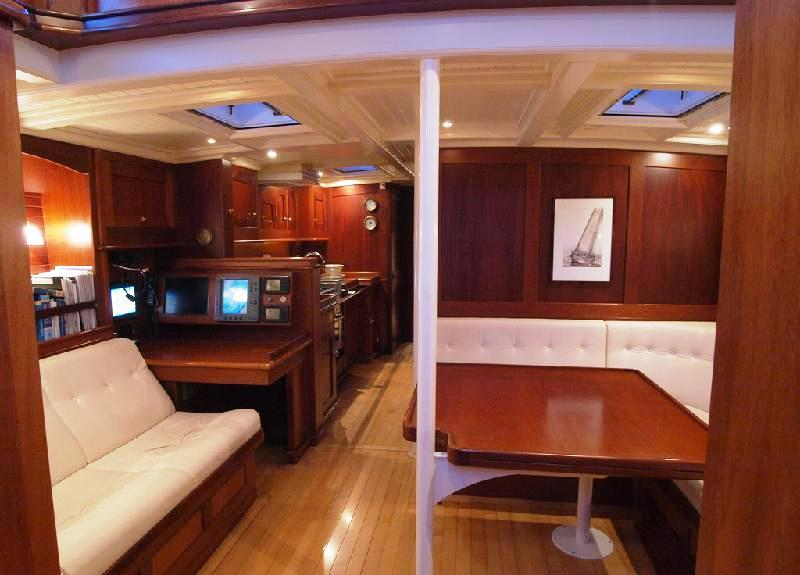 Sail yacht LADY ANN -  Dining and Nav Station