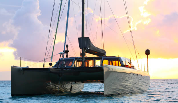 Sailing Catamaran Zenyatta - Sunset