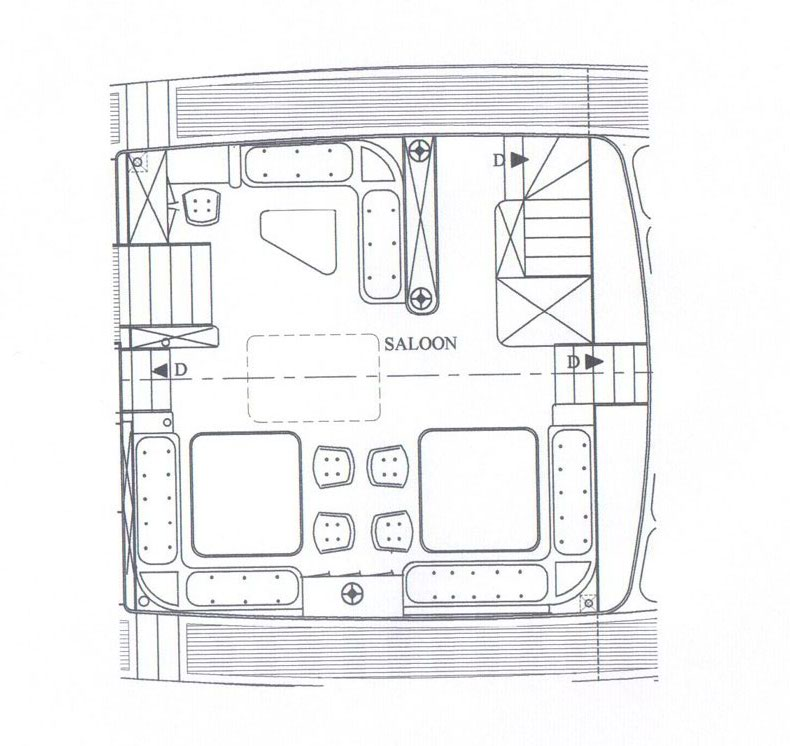 Sailing Gulet MYRA -  Salon Layout
