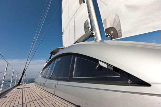Sailing Yacht Cartouche - A Blue Coast 95 Catamaran - Photo Credit Gilles Martin-Raget