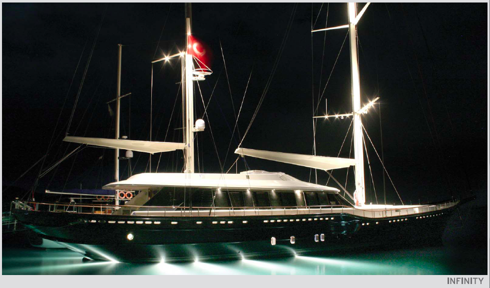 Sailing Yacht Infinity by Cobra Yachts - By Night