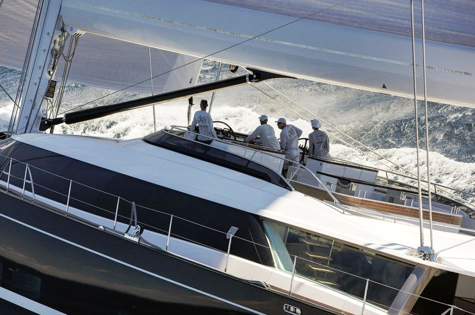 Sailing Yacht Kokomo III - Flybridge Whilst Sailing