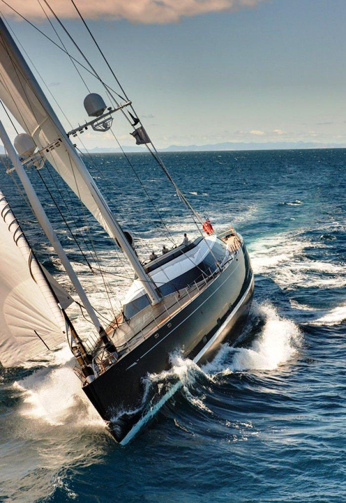 Sailing Yacht Kokomo III - Photo of her Underway at Sea