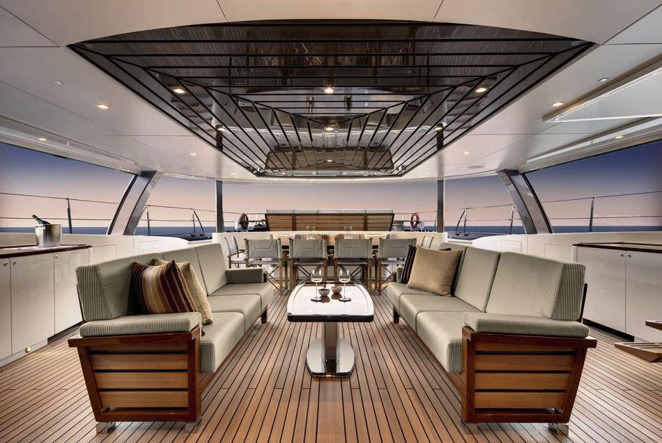 Sailing Yacht Kokomo III - The Aft Deak Cockpit