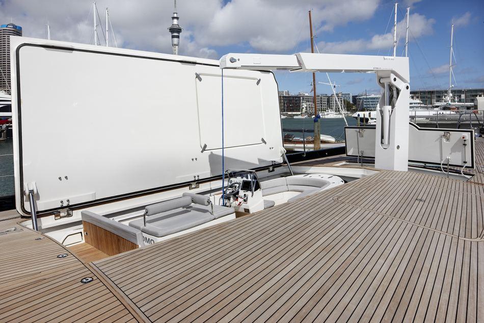 Sailing Yacht Kokomo III - The Tender Garage Hatch