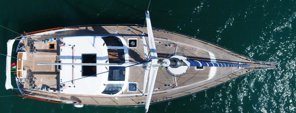 Sailing Yacht Myosotis -  Yacht From Above