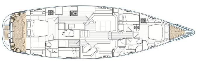 Sailing Yacht SPIRIT - Layout