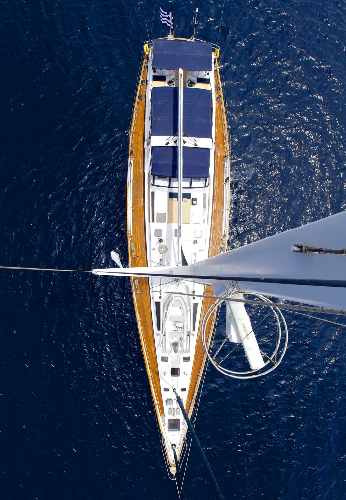 Sailing yacht AMADEUS - From Above