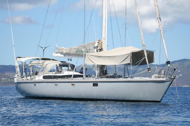 Sailing yacht ANAHITA - At Anchor