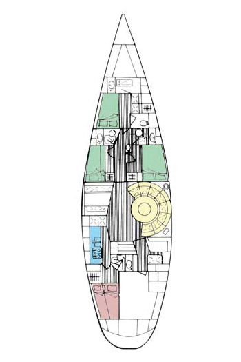 Sailing yacht ANAHITA - Layout