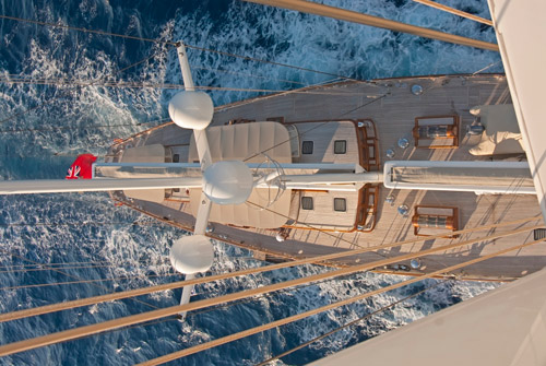Sailing yacht ATHOS -  From Above