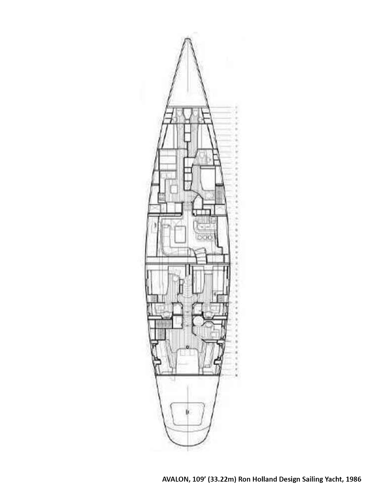 Sailing yacht AVALON - Layout