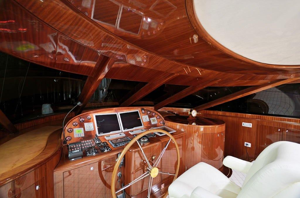 Sailing yacht GLORIOUS -  Helm