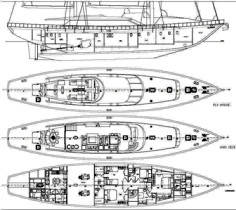 Sailing yacht GLORIOUS -  Layout