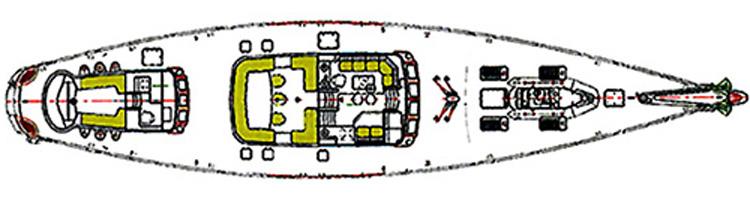 Sailing yacht JAZZ Jr -  Deck Layout