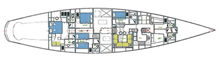 Sailing yacht JAZZ Jr -  Layout