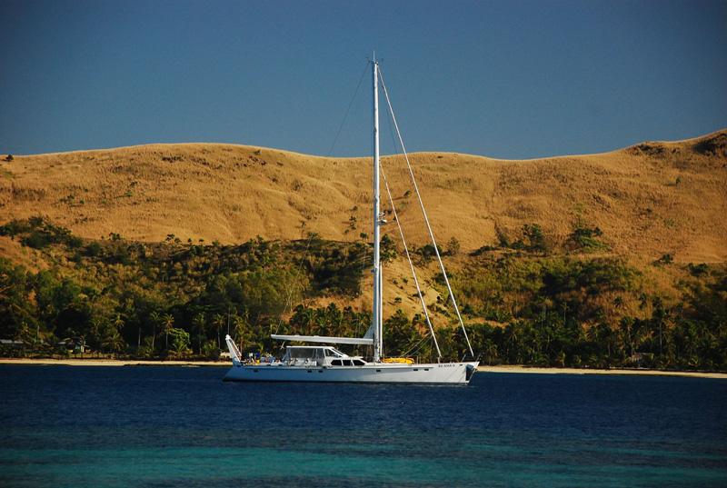 Sailing yacht KE-AMA II -  At Anchor