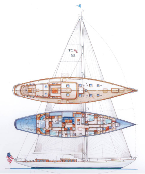 Sailing yacht KEALOHA -  Layout