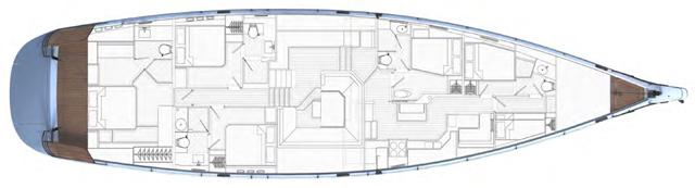 Sailing yacht LUSH - Layout